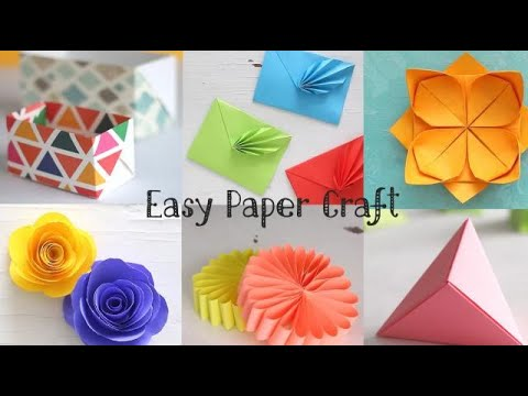 Easy Paper Crafts Handmade Crafts Ventuno Art Youtube
