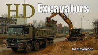 Excavators ☆ Koparki ☆ Buldożery ☆ Ładowarki ☆ Budowa Trasy W-Z Łódź