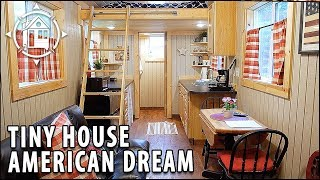 All-american Tiny House Tour Featuring A Spacious Layout