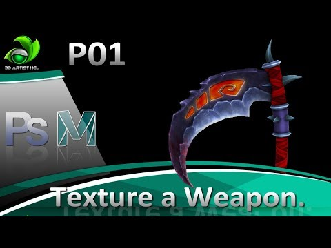 Game Artist | Speed Painting Texture Weapon