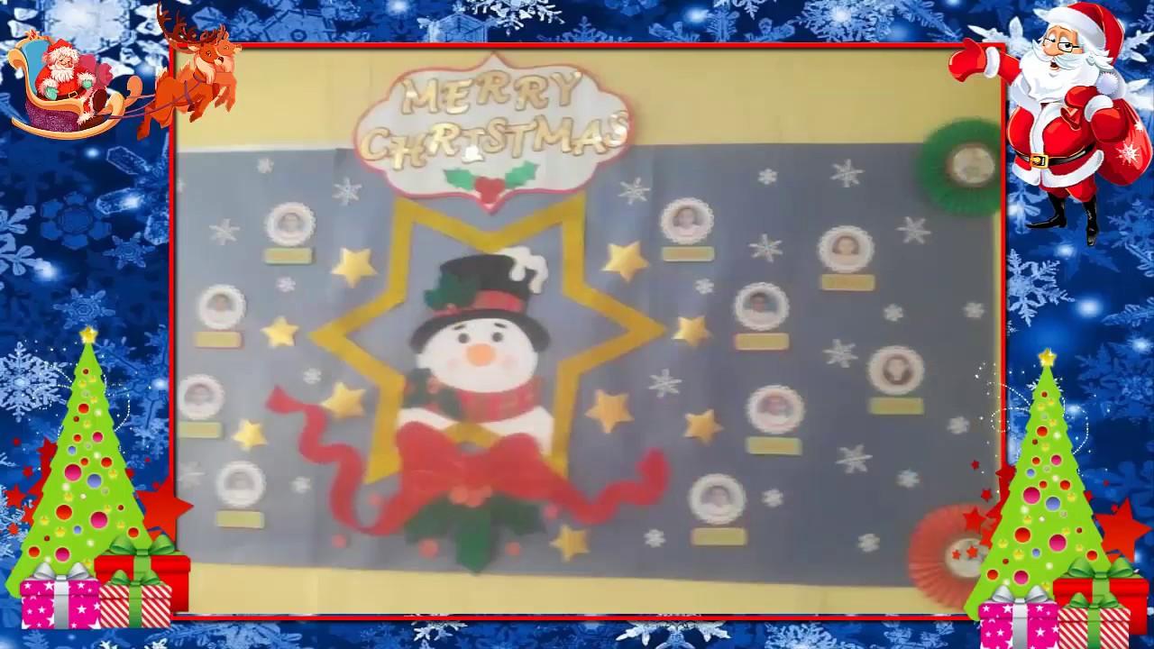 Murales navide os youtube - Murales decorativos de navidad ...