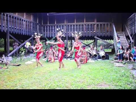 Tarian Manasai dayak Kalimantan Tengah, Indonesia