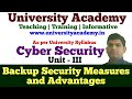 L19: Backup Security Measures | Advantage of Data Backup Security