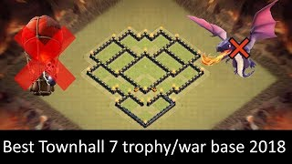 Clash of Clans TH7 War Base | Anti Dragon/Hogs/Giant | Clash of clansrathaus 7