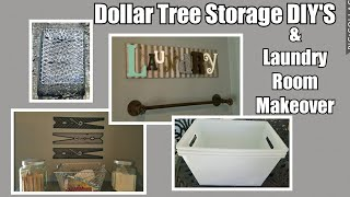 Dollar Tree Laundry Room Storage DIY'S & Makeover