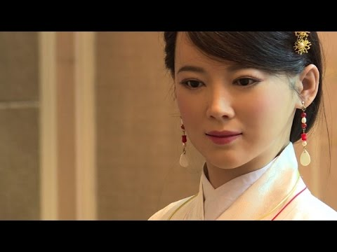 Bionic woman: Chinese robot turns on the charm
