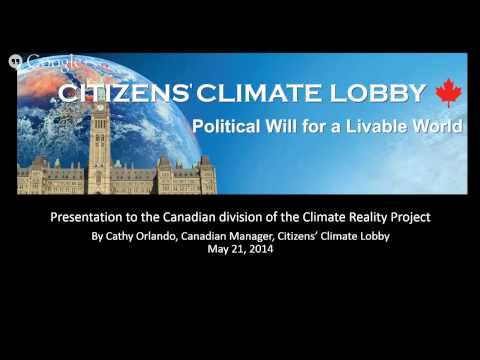 """Climate Hangout: """"Supporting Local Action Groups"""" and Citizens Climate Lobby Canada"""