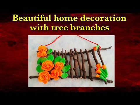DIY Tree Branches Decoration.  Home Decoration idea.