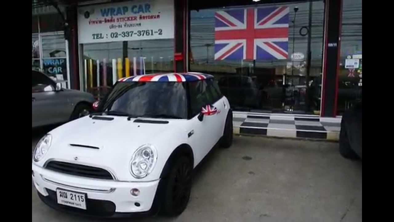 st auto bmw mini r53 cooper s white matte union jack. Black Bedroom Furniture Sets. Home Design Ideas