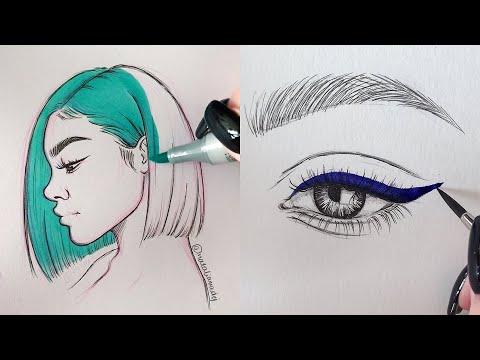 ODDLY SATISFYING ART VIDEOS 🤤😍 Part 6   Natalia Madej Compliation