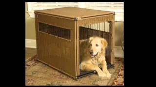 Mr  Herzhers 13202 Wicker Dog Crate Small Dark Brown