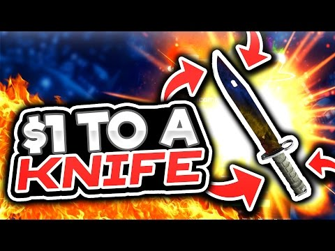 $1 TO A KNIFE! (CS GO Roll Gambling)