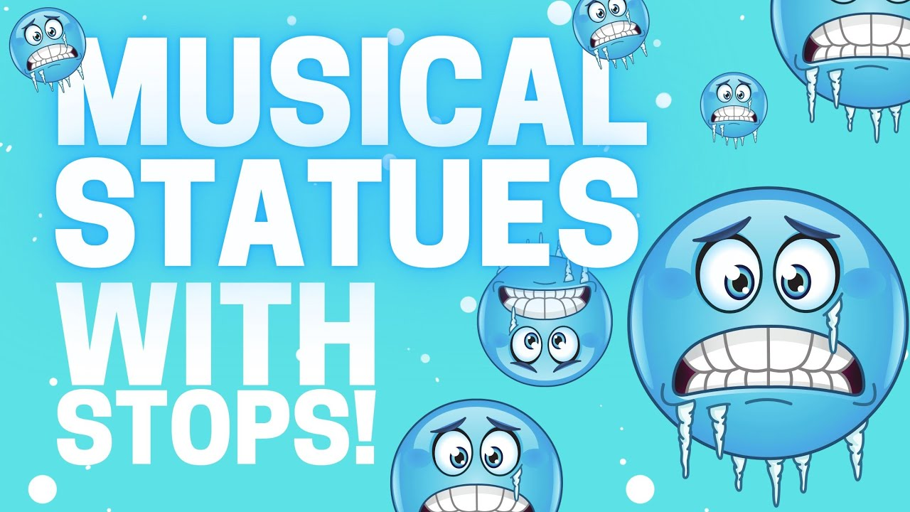 ❄FREEZE DANCE MUSIC with STOPS: musical statues❄