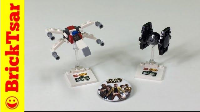 LEGO Star Wars Celebration Anaheim X Wing FIghter & Tie Fighter Mini ...