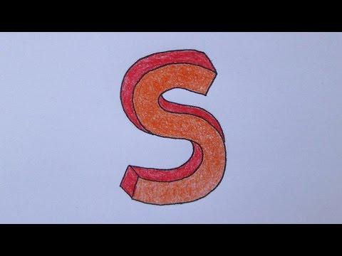 Cómo dibujar la letra S