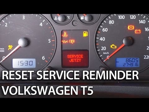 How to reset service interval in Transporter/Caravelle/Multivan VW (1.9TDi T5 service jetzt now)