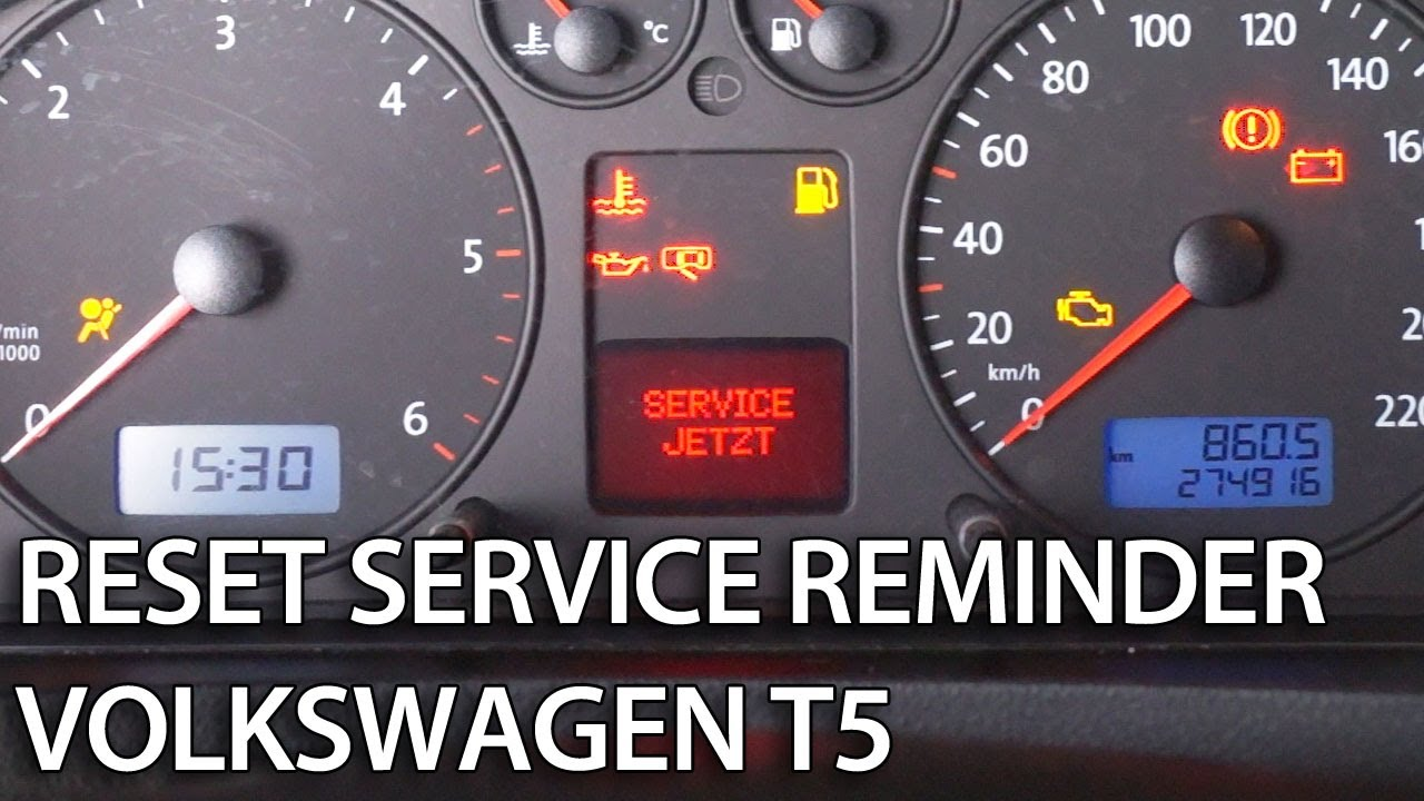 How To Reset Service Interval In Transporter Caravelle
