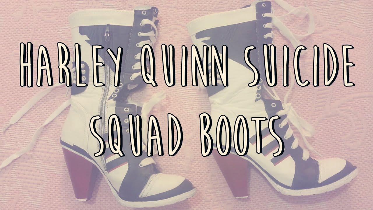 a25f717eea23ce Cómo hacer las botas harley Quinn Suicide Squad - YouTube