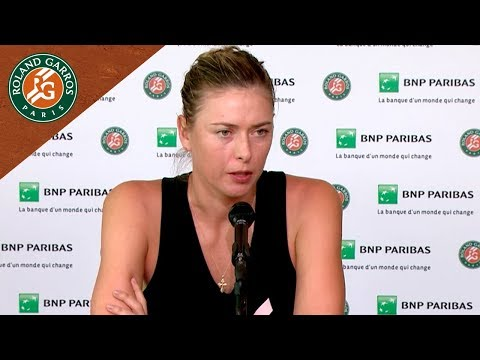 Maria Sharapova - Press Conference after Quarter-Final I Roland-Garros 2018