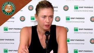 Maria Sharapova - Press Conference after Quarter-Final I Roland-Garros 2018