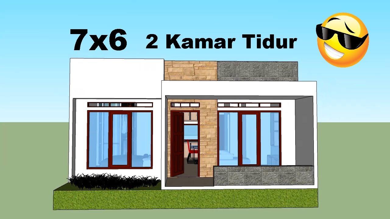 Desain Rumah Minimalis 7x6 2 Kamar Tidur Youtube