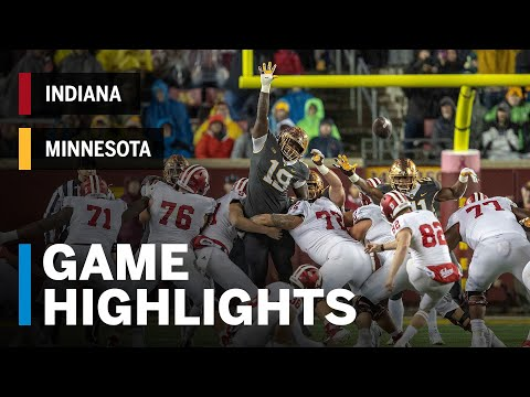 Highlights: Indiana Hoosiers vs. Minnesota Golden Gophers | Big Ten Football