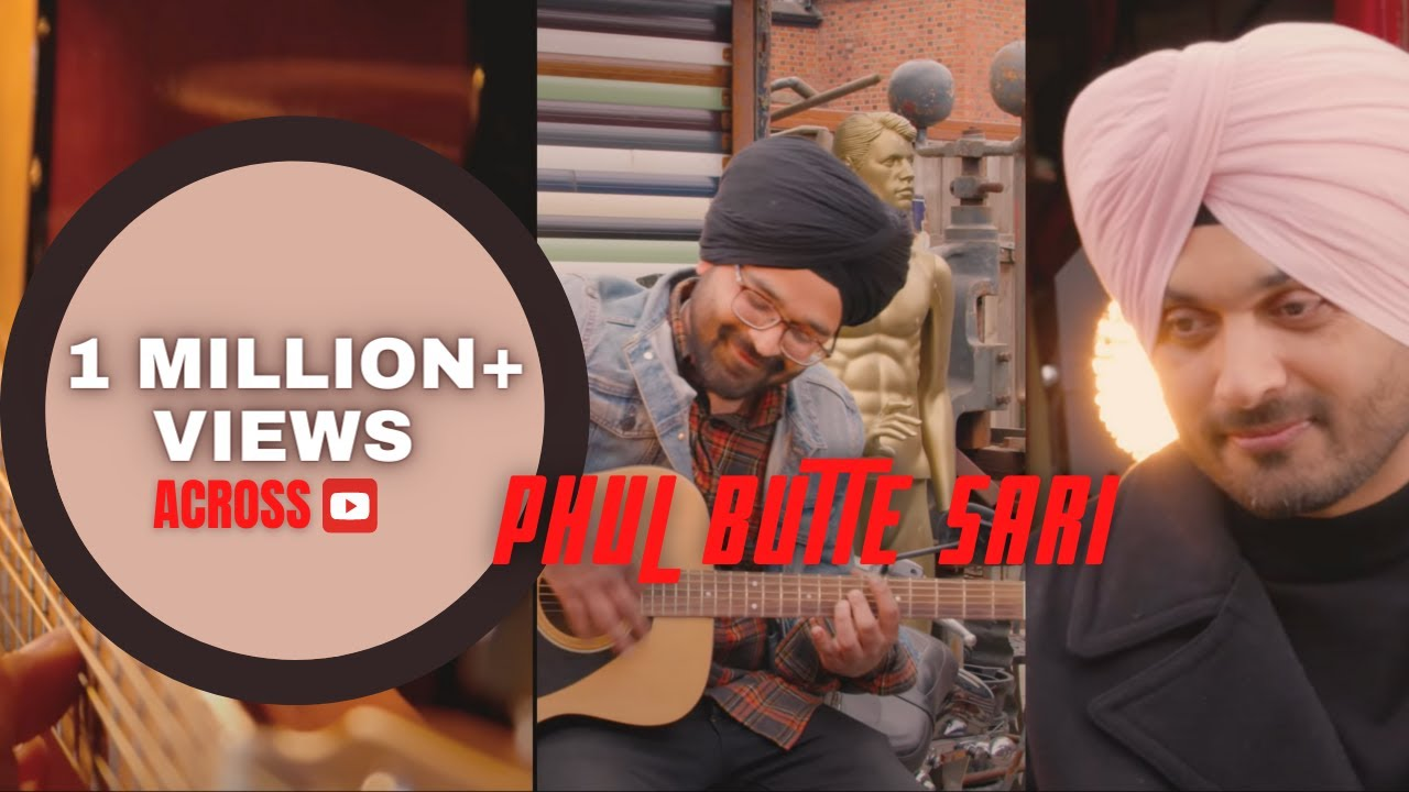 PHUL BUTTE SARI | Punjabi Version | LOVE FROM INDIA | LUCKY SIDHU | BLEND  of MALE & FEMALE VERSION - YouTube