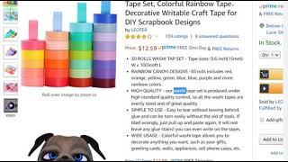 @Bahamas 5 STAR Amazon Product Review LEOTER Washi Craft Masking Tape 30 Rolls DIY Scrapbook 15mm!
