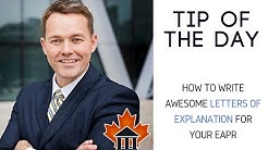 Express Entry - TIP OF THE DAY - How to write an awesome letter of explanation
