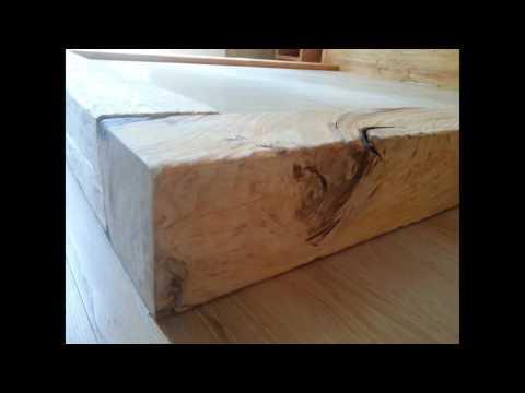 Кровать двуспальная из дерева сосны в Москве от фабрики
