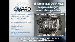 Moteur Peugeot 607 2.2 HDI 170 cv 4HT