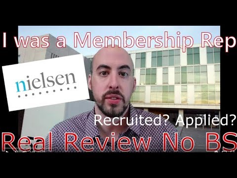 Working for Nielsen - Membership Representative