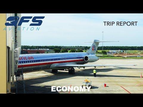 TRIP REPORT   American Airlines - MD 83 - Dallas (DFW) to Savannah (SAV)   Economy