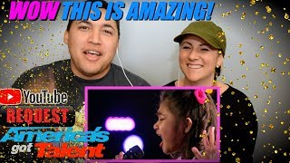 Angelica Hale: 9-Year-Old Earns Golden Buzzer  COUPLES REACTION!!