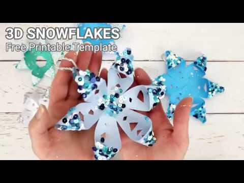 Printable 3D Snowflake Craft