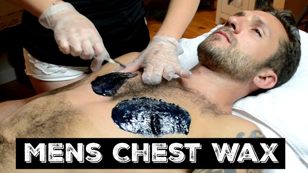 Mens Chest Wax Using Cirepil Hard Wax Youtube