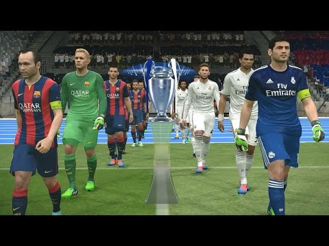 PES 2015 UEFA Champions League Final (Real Madrid vs FC Barc