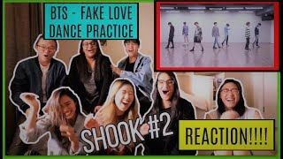 Gambar cover BTS (방탄소년단) - FAKE LOVE - Dance Practice   Fangirling , SHOOK (MASSIVE LOUD GROUP REACTION)
