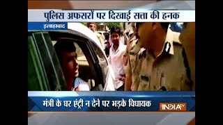 UP: BJP MLA Harshvardhan Bajpai misbehaves with senior police officials in Allahabad
