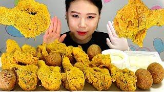 BHC 뿌링클 콤보 치킨 치즈볼 먹방 MUKBANG