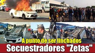 Capturados y a punto de ser linchados secuestradores Zetas en Veracruz