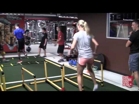 Take a look at Canadian Tennis player Eugenie Bouchard's off season workout