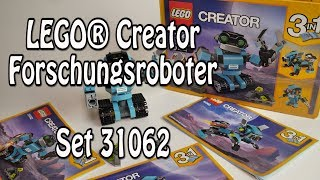 LEGO Forschungsroboter (Creator Set 31062 Review deutsch - Robo Explorer)