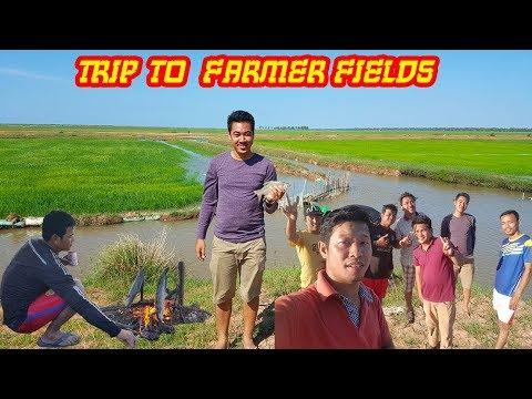 Views at farmer fields in kompung Thom Provinve, Visit Cambodia, Province trip