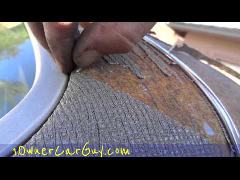 Vinyl Top Repair Replacement DIY Paint Tips ~ Spray Paint a Vogue Car Roof How To Video
