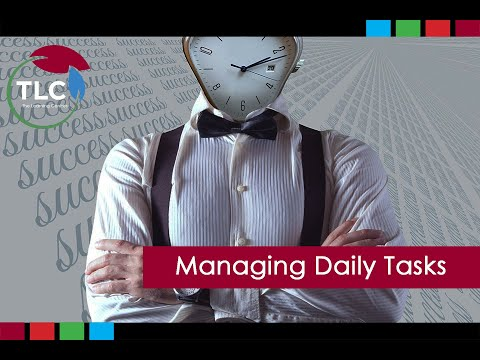 """Thumbnail for the embedded element """"Managing Daily Tasks"""""""