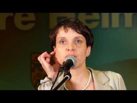 """AFD SH: Dr. Frauke Petry, Bundesvorsitzende der """"Alternative für Deutschland"""" (AFD)"""