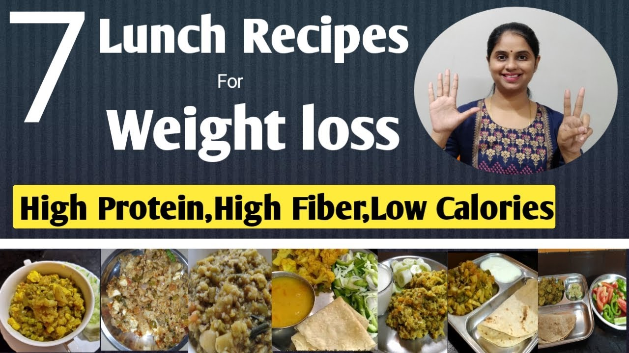 7 Lunch recipes for weight loss | Healthy lunch ideas for weight loss | Indian Veg lunch recipes