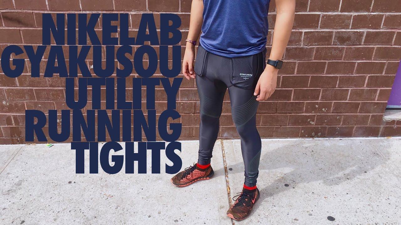 NikeLab Gyakusou Utility Running Tights - YouTube 5fd45eaaa