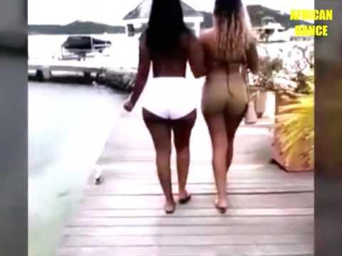 Girls walking in spandex